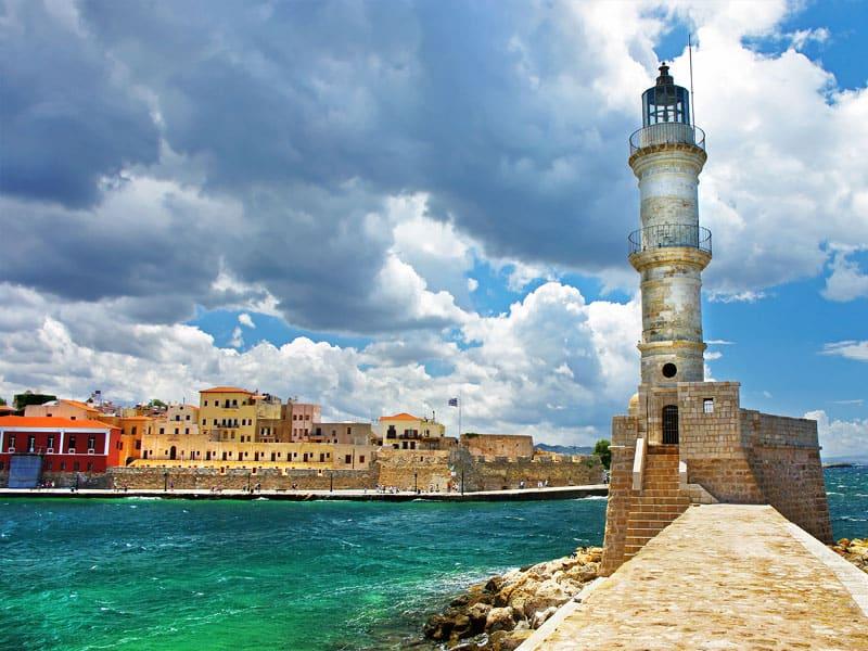 Chania Lighthouse Crete Greece - 14 Days Thai Massage Training and Yoga Retreat in Crete Greece