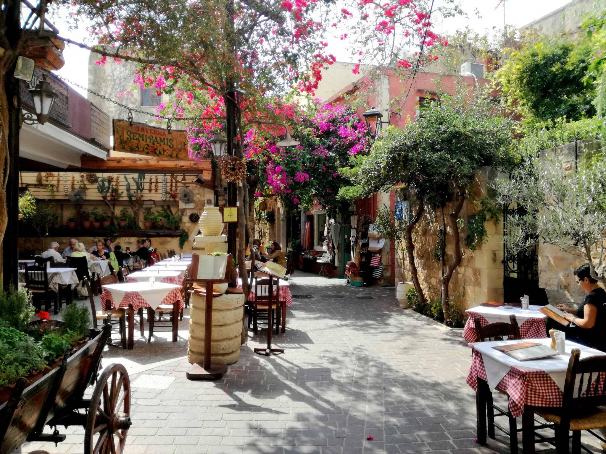 Chania street - 14 Days Thai Massage Training and Yoga Retreat in Crete Greece