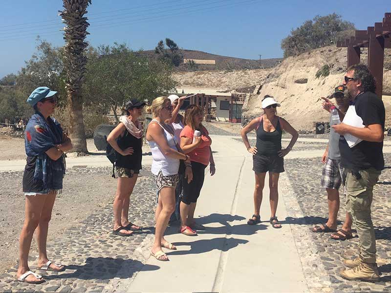 santorini2018 excav5 - 7 days Yoga in Santorin Greece - A YogaYamas vacation