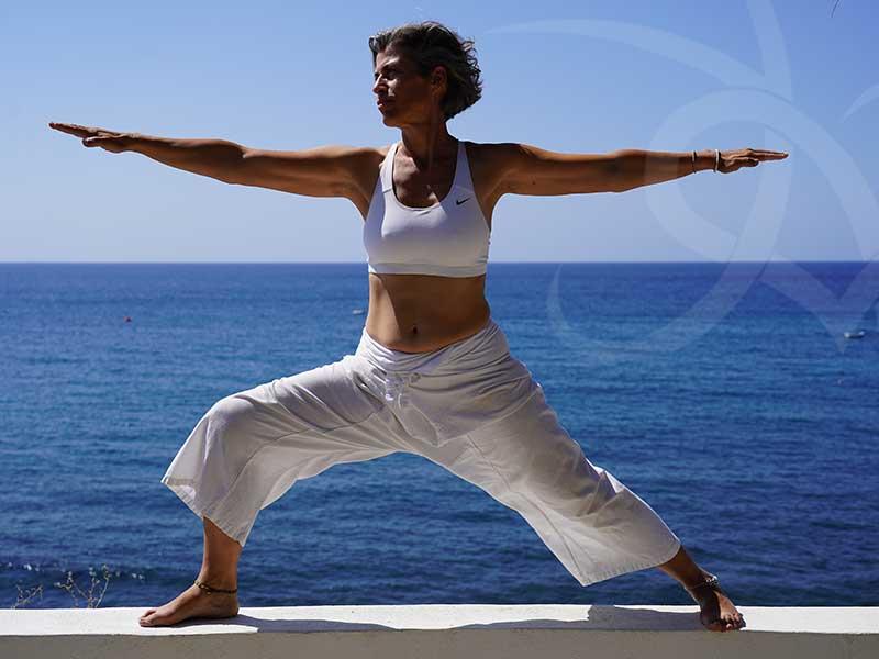 santorini2018 pose1 - 7 days Yoga in Santorin Greece - A YogaYamas vacation